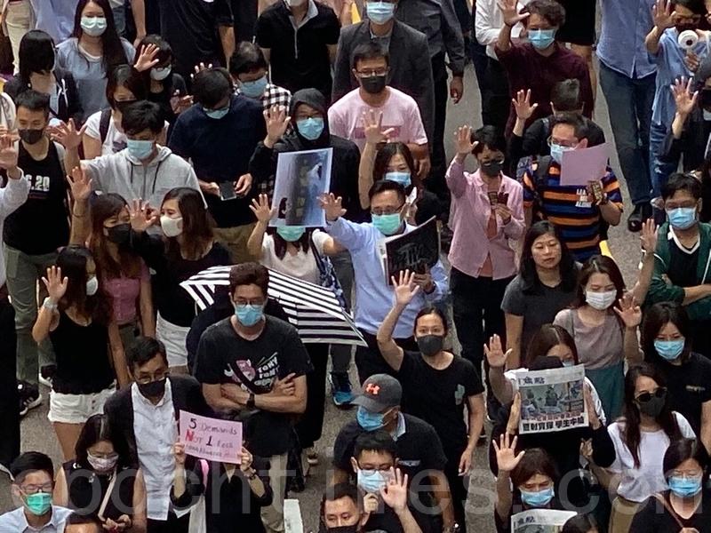 【10.18反惡法直播】港人快閃遊行 十八區面具「和你拖」
