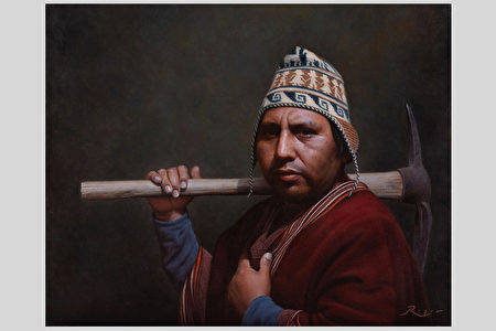 新唐人油画大赛 《世代之间》向大地母亲感恩