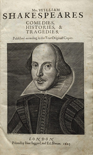 Shakespeare's 1623 first folio. (Wikimedia Commons)