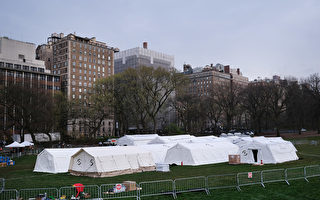 组图:疫情严峻 纽约中央公园野战医院启用