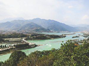 世界唯一无坝引水都江堰  中华科学文明活见证