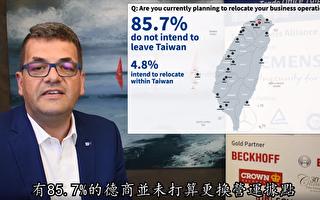 调查:85.7%在台德商不打算更换营运据点