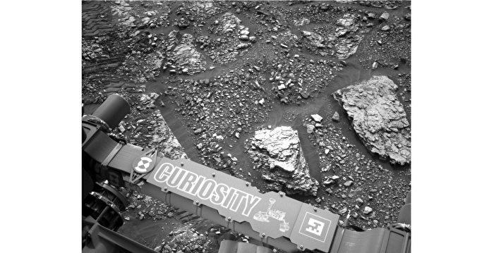 好奇號探究火星古怪石頭