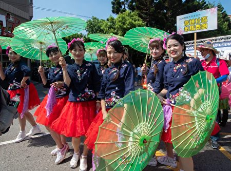 「義民祭」踩街隊伍,藉此感念義民爺忠勇千秋的精神。