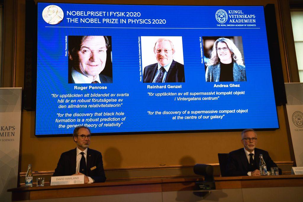 探索黑洞秘密 英美德科學家獲諾貝爾物理獎