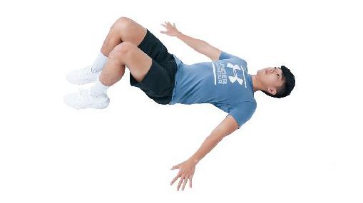 訓練姿勢的運動:屈膝仰臥姿。(日日幸福提供)