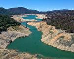 组图:加州第二大水库奥罗维尔湖 蓄水量仅剩42%