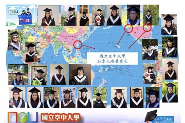 圖;祝賀30位學生完成學業,國立空中大學以視訊方式舉辦畢業慶典。(空大加國專班提供)