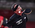 組圖:殘奧會感人一幕 無臂乒乓球選手拚意志